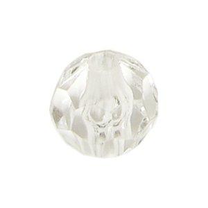 画像1: プラスチックビーズ ダイヤカット 20mm クリスタル 【1ヶ入】 (1)
